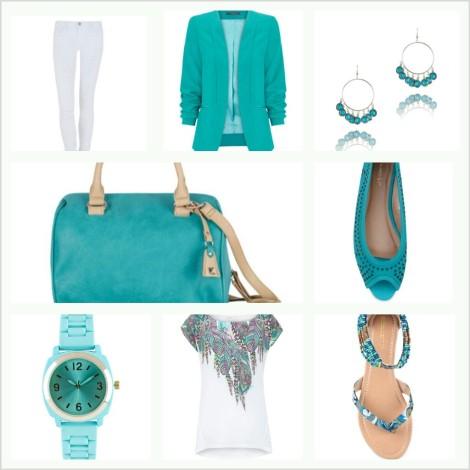 Un look completo combinando el blanco y el verde mint.